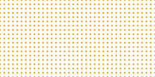 Polka Dots Pattern Seamless Orange On White Background. Summer Vector Design.