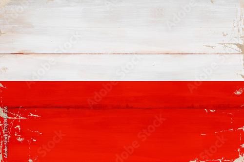 Polska - plakaty flaga-polski-namalowana-na-desce