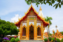 Wat Phra That Phanom, The Public Temple As Sacred Precinct Of Buddhist Religion That Renovate The First Time About Year 1693AD (not Clearly In Year Build) Located In Nakhon Phanom Province, Thailand