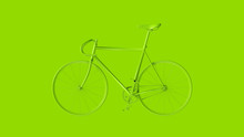Lime Green Fixed Gear Racing Bike 3d Illustration 3d Render