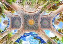 Moroccan Arches And Frescoes O...