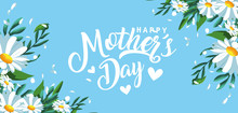 Happy Mother Day Card With Flowers Decoration