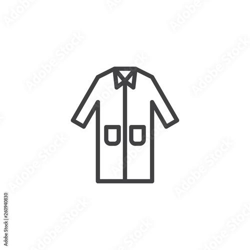 Fotografie, Tablou  Laboratory coat line icon