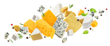 Cheese Assortment Isolated On White Background