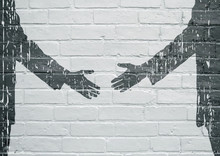 Street Art. Poignée De Mains