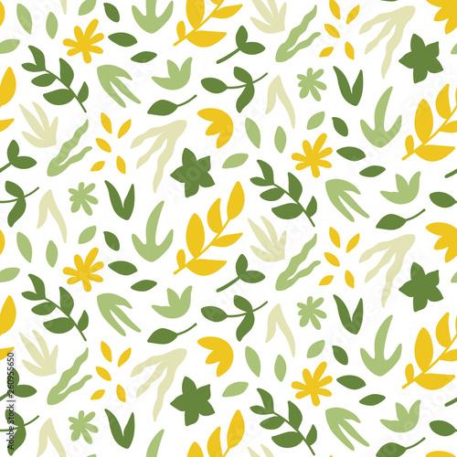 Fototapeta Seamless pattern with leaves