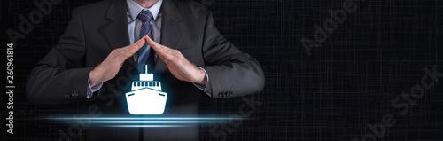 Obraz Concept of boat insurance - fototapety do salonu