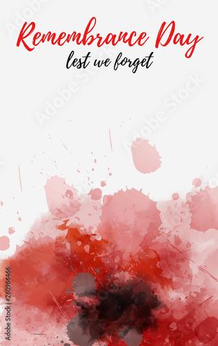 Fotografía Remembrance day poppy symbol