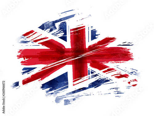 Fotografia Grunge flag of the United Kingdom