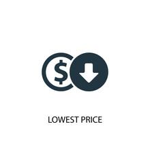Lowest Price Icon. Simple Elem...
