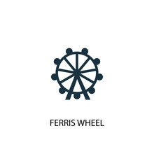 Ferris Wheel Icon. Simple Elem...