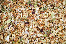 Texture Background. Green Spice Mix Dried Vegetables And Herbs.