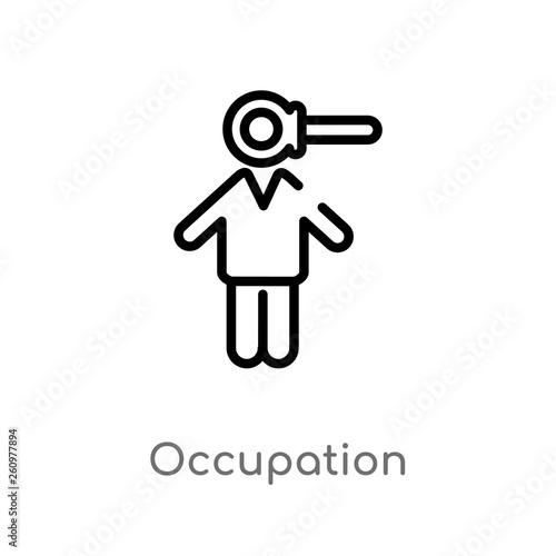 Fotografia  outline occupation vector icon