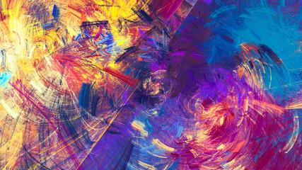 Bright artistic splashes. A...