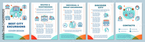 Fotografia  Excursion brochure template layout