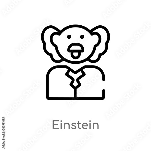 Photo  outline einstein vector icon