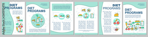 Healthy nutrition brochure template layout