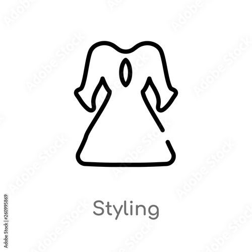 Fotografie, Obraz  outline styling vector icon