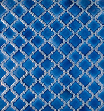 Seamless Mosaic Blue Tiled Ara...