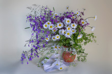 Still Life With Daisies In A C...