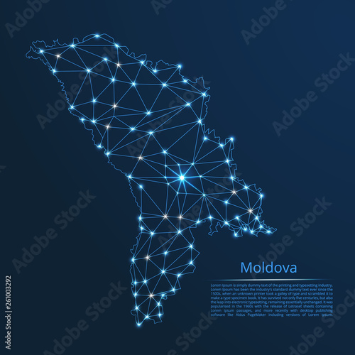 Moldova communication network map Canvas Print