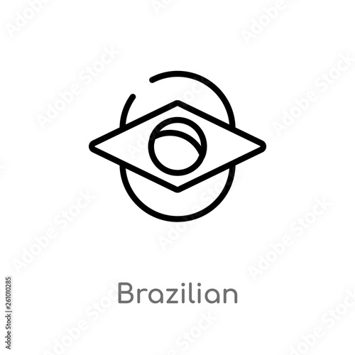 Fotografie, Obraz  outline brazilian vector icon