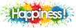 canvas print picture - happiness word in splash's background