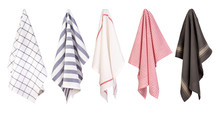 Hanging Tea Towels Isolated On...