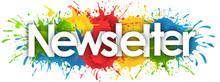Newsletter Word In Splash's Background