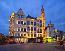 Street Scene In Antwerpen, Belgium.