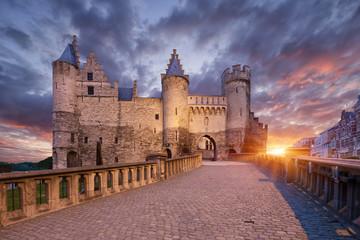 Het Steen, dvorac u Antwerpenu, Belgija.
