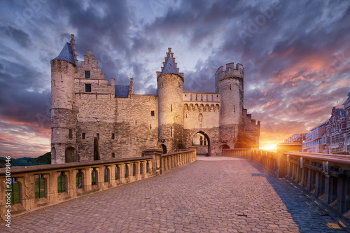 Cadres-photo bureau Antwerp Het Steen, Castle in Antwerp, Belgium.