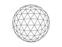 Geodesic Sphere Line Illustrat...