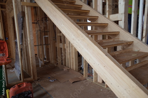 Fototapeta staircase in a building under construction