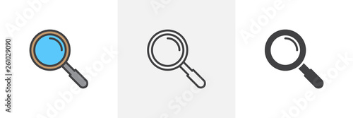 Fotografie, Tablou Magnifying glass icon