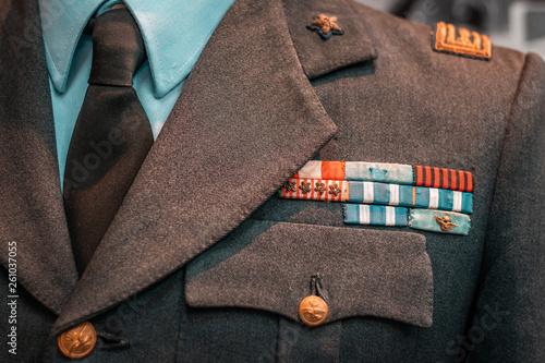 Cuadros en Lienzo Details of historical Italian military uniforms