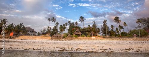 Poster Zanzibar Beautiful sunset on the beach of the Indian ocean, Zanzibar island