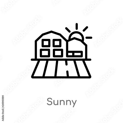 Fotografia  outline sunny vector icon