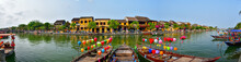 Panoramic Picture Of Old Town In Hoi An, Vietnam. UNESCO World Heritige Site.