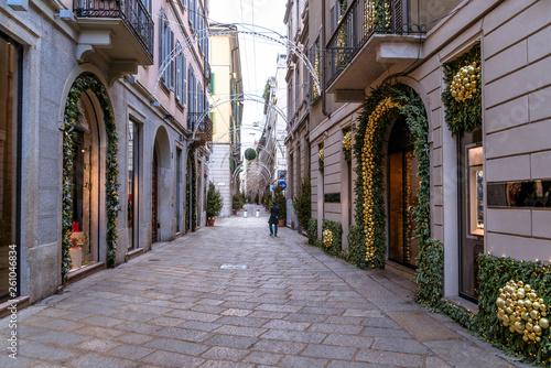 Beautiful street in Milan