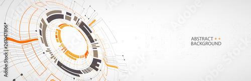Obraz Vector illustration, Hi-tech digital technology and engineering theme - fototapety do salonu
