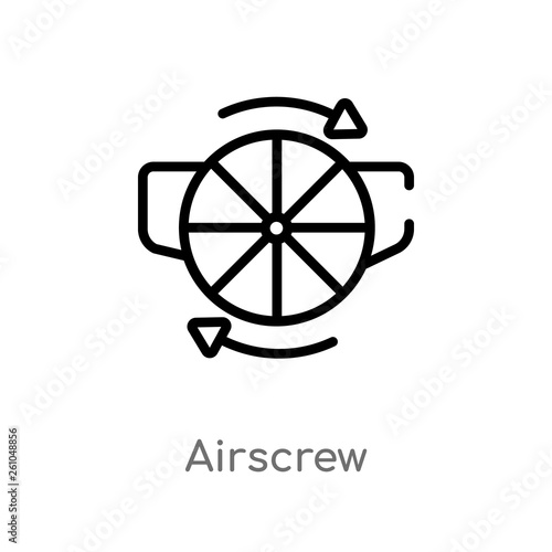 outline airscrew vector icon Canvas Print