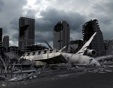 View Of The Destroyed Post-apo...