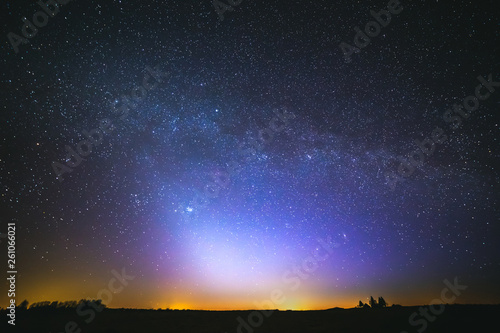 Wall Murals Night zodiacal light and the Milky Way on a beautiful night