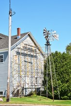 Scaffolding And Windmill