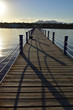 Beautiful sunset in a wooden pier