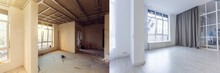 Unfinished Building Interior W...