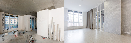Fotografia flat renovation, apartment refurbishment, room modernization