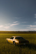 Old Yellow Sport Classic Car P...
