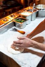 Preparing Dough In The Kitchen.